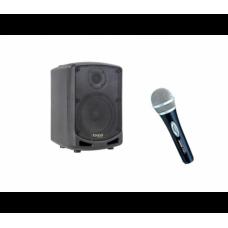 IBIZA POWER5-BT + E-340 mikrofonas