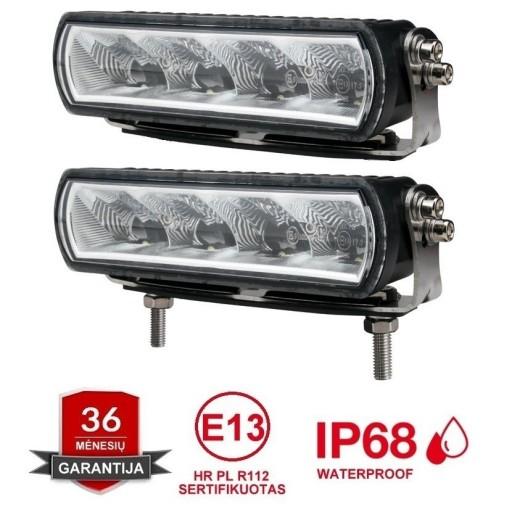2x MINI LED BAR sertifikuoti žibintai 20W