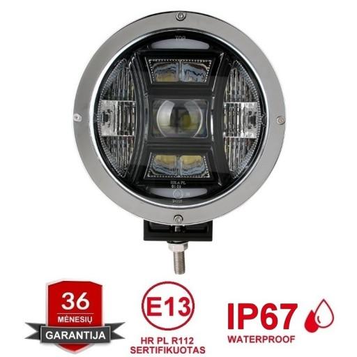 LED apvalus sertifikuotas žibintas 70W